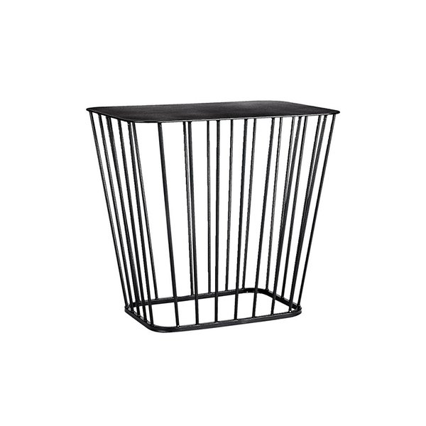 CB2 Black Wire Side Table