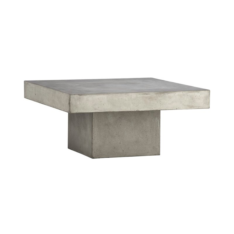 CB Element Coffee Table By CB Dwell - Cb2 cement coffee table