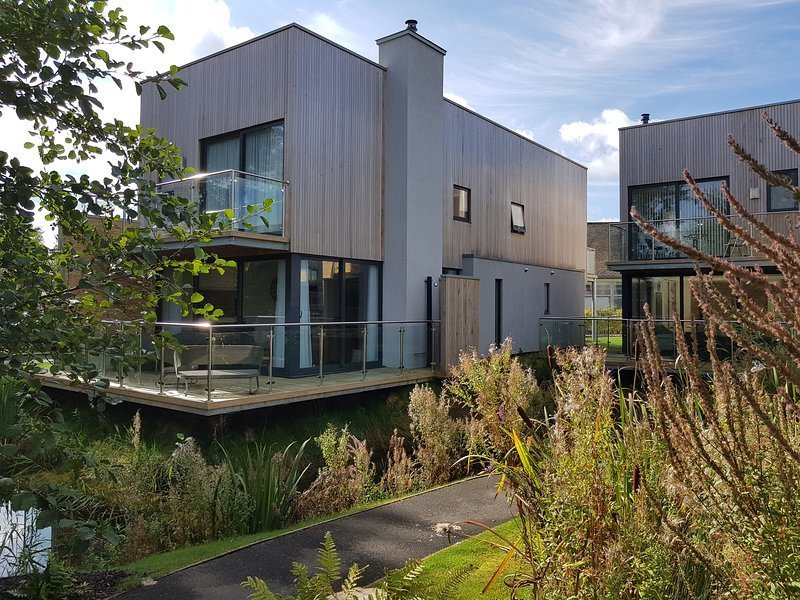 Exterior, Cabin Building Type, Flat RoofLine, and Wood Siding Material  No. 1 The Water Gardens