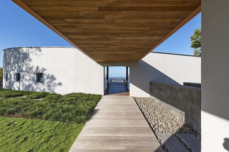 Outdoor, Grass, Walkways, Wood Patio, Porch, Deck, and Hardscapes  Architectural Dream Villa