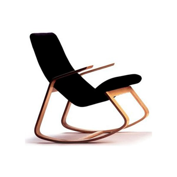 Rapid Rocking Chair in Black on Maple Rocker