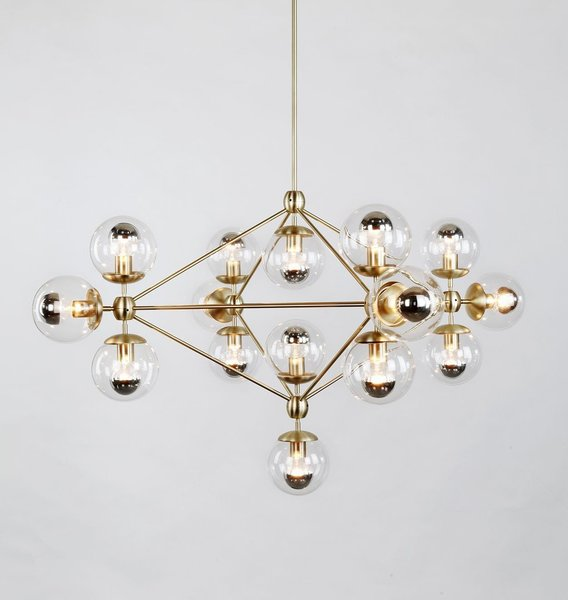 Roll & Hill Modo 4 Sided Chandelier – 15 Globes
