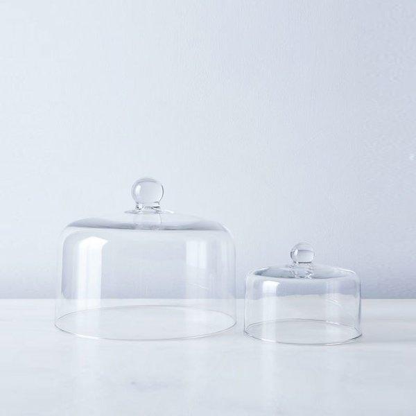 Mosser Glass Blown Glass Cake Stand Dome