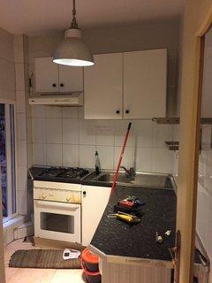 The original kitchen.