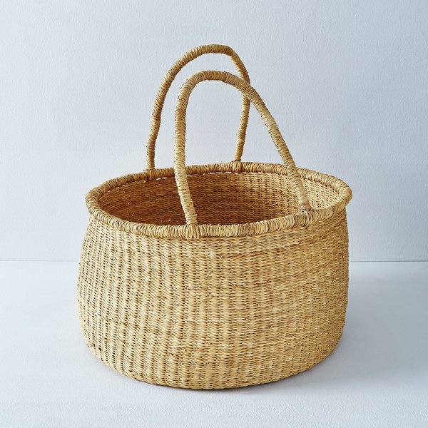 Medina Mercantile Large Woven Storage Basket