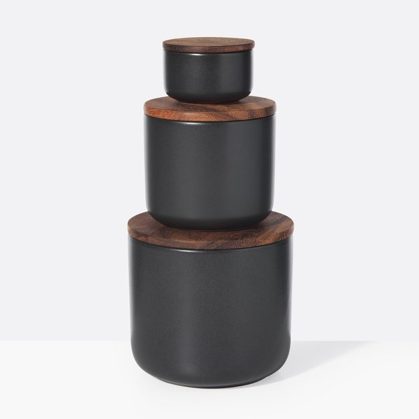 Stoneware Container – Black