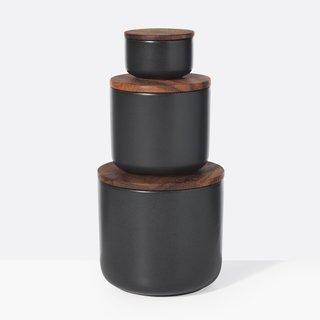 Stoneware Container – Black