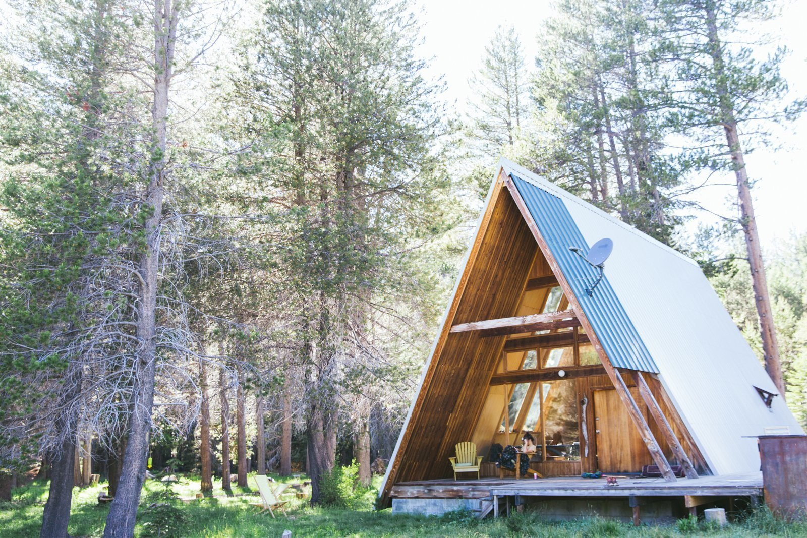 11 alluring a frame homes you can rent right now dwell for A frame cabin builders