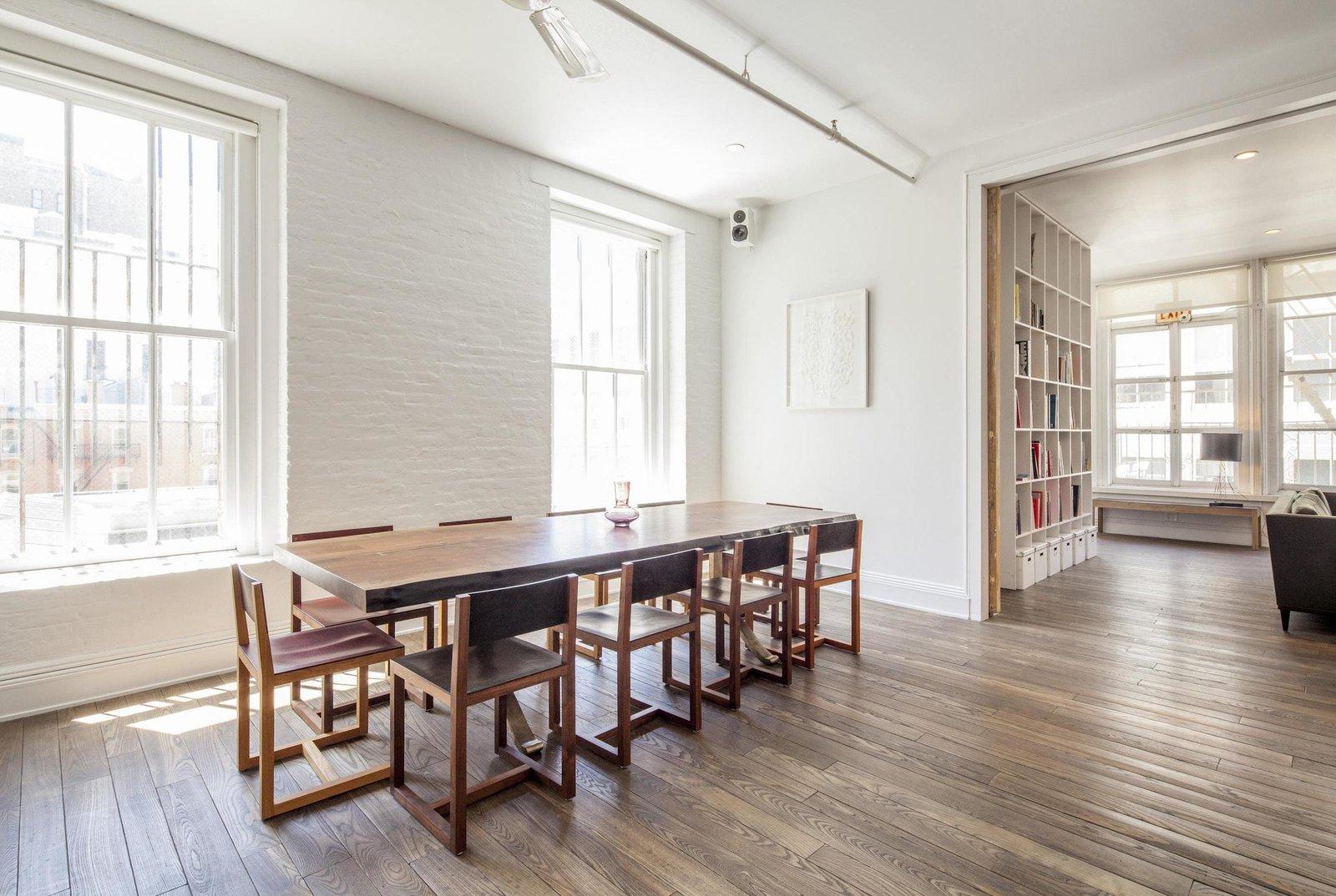 Dining Room, Chair, Recessed Lighting, Medium Hardwood Floor, and Table  Prince Street