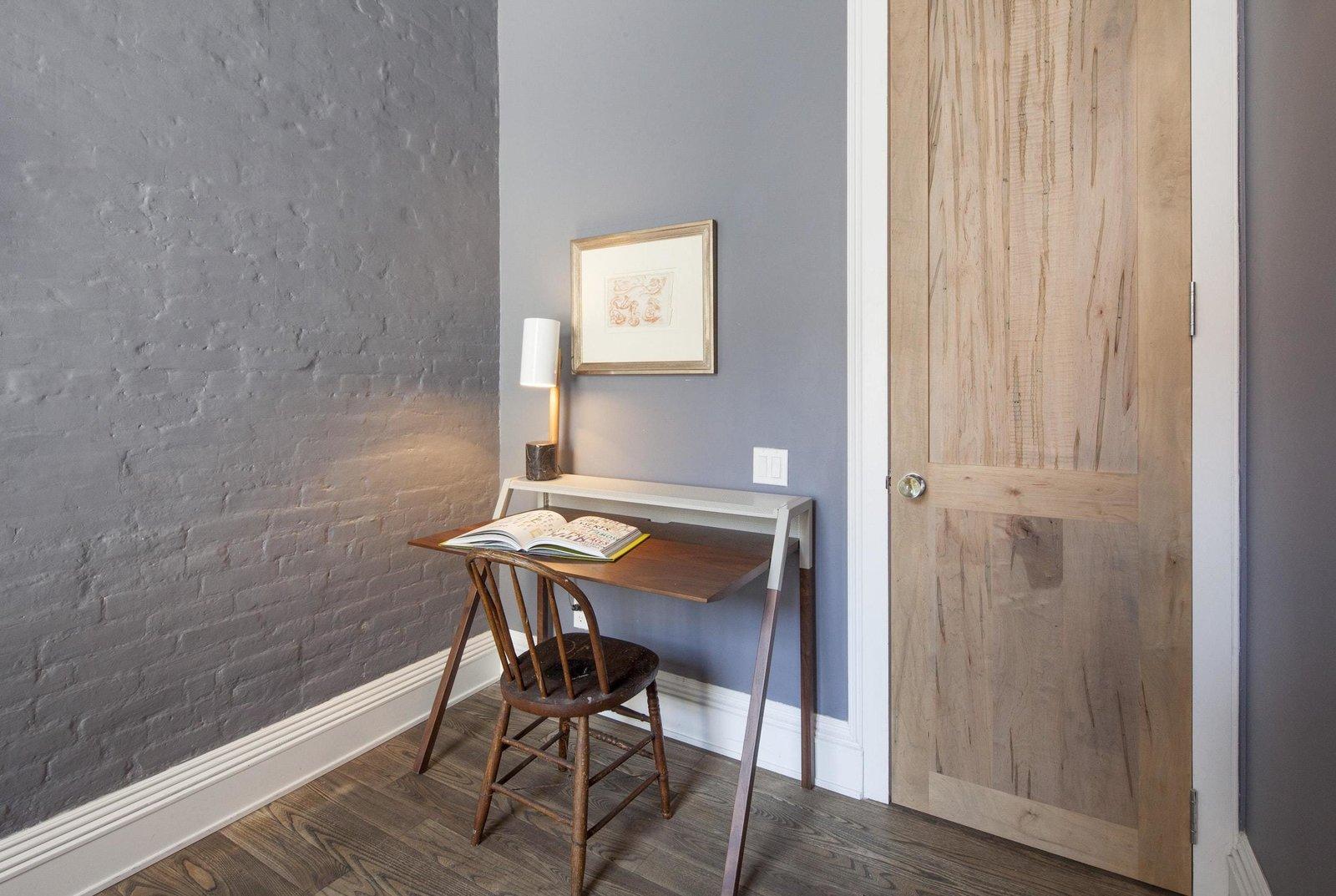 Office, Desk, Lamps, Chair, and Medium Hardwood Floor  Prince Street