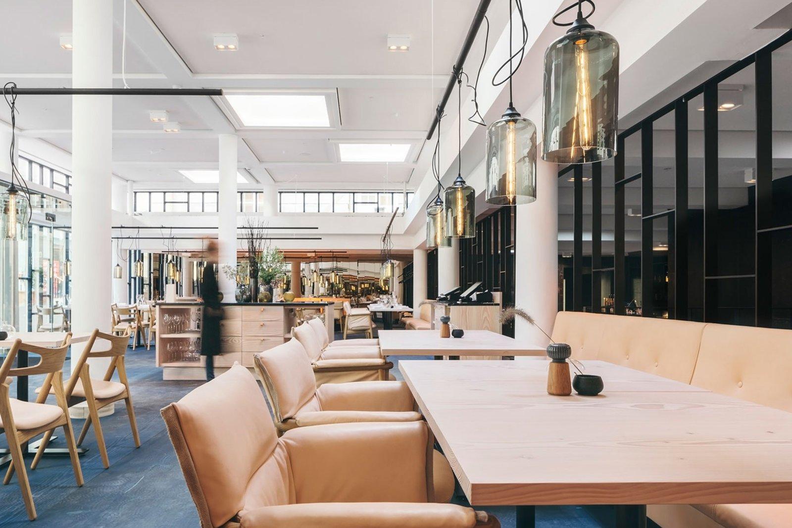 Dining Room, Chair, Ceiling Lighting, Table, Pendant Lighting, and Bench  Nobis Hotel Copenhagen