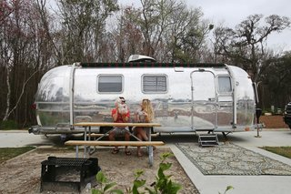 Before & After: A Couple Revamp an Old Airstream Into a Charming Workspace and Home
