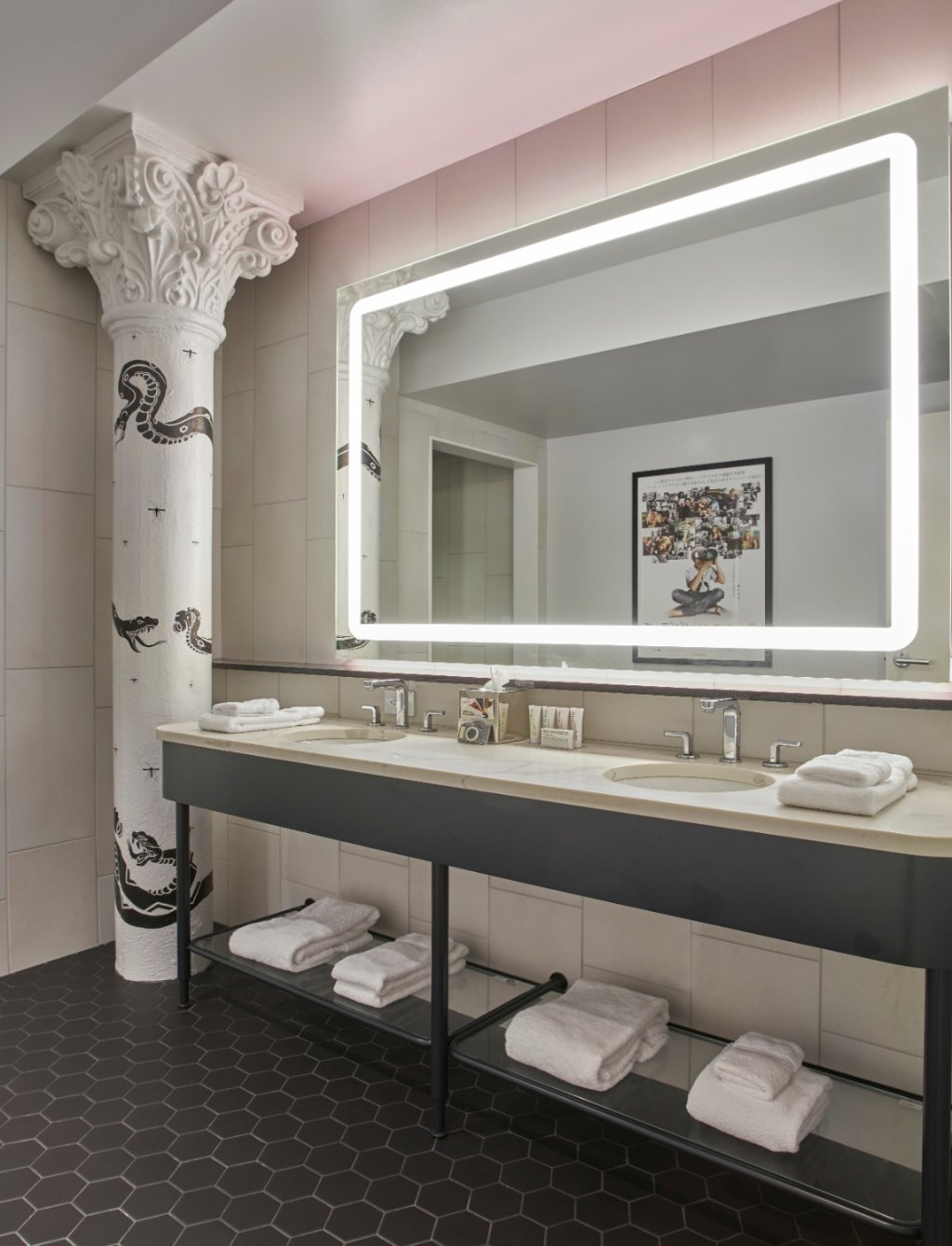 Bath Room, Undermount Sink, and Accent Lighting  21c Museum Hotel Nashville