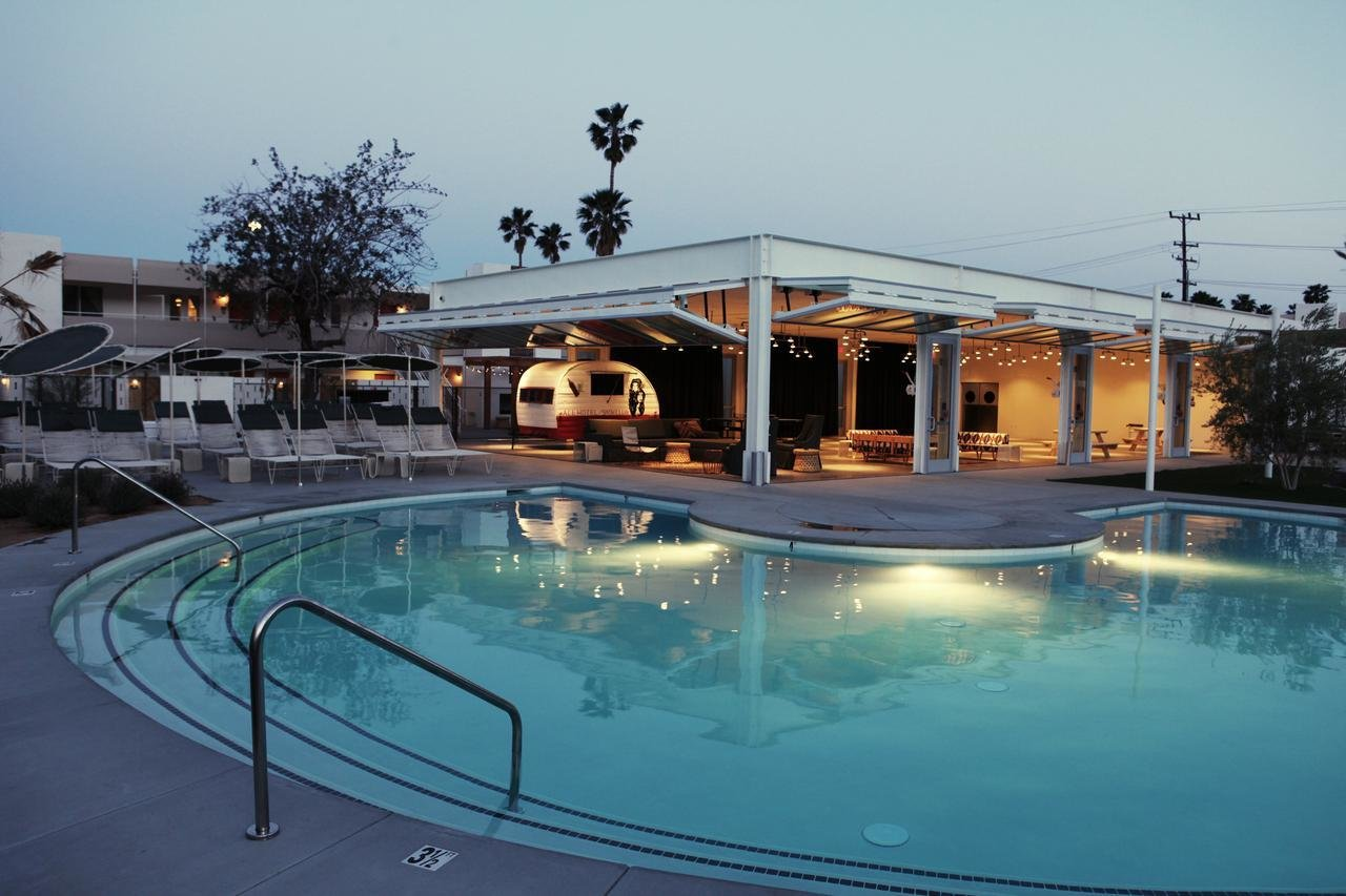 Outdoor, Back Yard, Swimming Pools, Tubs, Shower, Large Patio, Porch, Deck, and Large Pools, Tubs, Shower  Ace Hotel & Swim Club