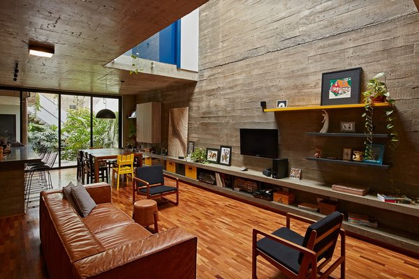 This Slender Concrete Home in Brazil Feels Like an Urban Jungle