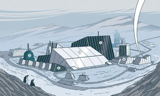 """<b><i>1 Consolidation</i></b></p><p>Using the igloo as a geometric model, the new plan calls for condensing McMurdo Station into fewer, larger structures so that minimal surface area encloses maximum volume.</p><p><b><i>2 Thermal Jacketing</i></b></p><p>In architect and project lead Rick Petersen's recommended layout, spaces that require less heat, like warehouses, would act as physical buffers, """"thermally jacketing"""" areas that require more heat, like offices.</p><p><b><i>3 Waste-Heat Recapture</i></b></p><p>Waste-heat recycling will promote energy sharing across the various program functions. """"We are using heat-exchangers to capture and redirect waste heat from generator  exhaust stacks and wastewater drains,"""" says Petersen.</p><p><b><i>4 Double Wall</i></b></p><p>OZ proposed a double-wall envelope with structural insulated panels outside and stud walls inside, for a total thermal resistance of R-72. (For reference, in less extreme climates, Passivhaus buildings usually have R-40 to R-60 walls.)</p><p><b><i>5 Triple-Glazed Windows</i></b></p><p>Triple-glazed, low-e coated windows would account for 11 percent of the building envelope, welcoming in the otherworldly landscape. Says Petersen: """"The views give you a sense of inspiration to remind you of why you're there."""""""