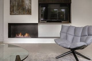 Iron Copper fireplace