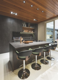 Iron Grey island and cabinetry