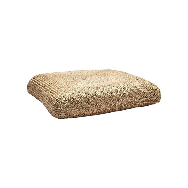 CB2 Braided Jute Floor Cushion