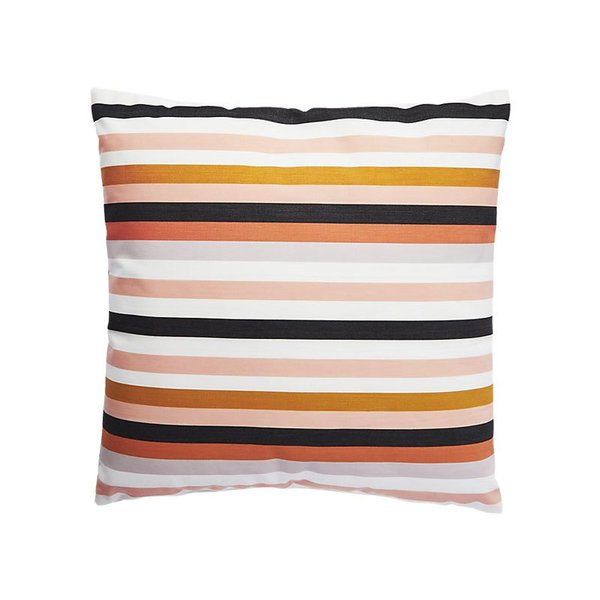 "CB2 20"" La Mer Rose Outdoor Pillow"