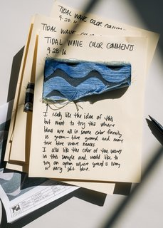 From Sketchbook to Loom, We Reveal How a Brooklyn Designer Created Her New Ocean-Inspired Textile - Photo 5 of 26 -