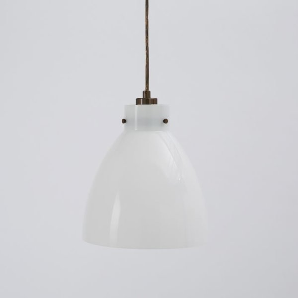 West Elm Industrial Glass Pendant Lamp