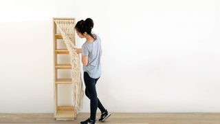 Dwell Made Presents: DIY Shoe Shelf With a Macramé Curtain - Photo 25 of 25 -