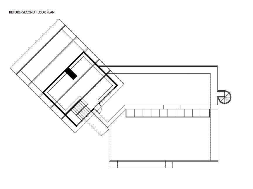 Montlake House Seattle midcentury home scond floor plans before renovation