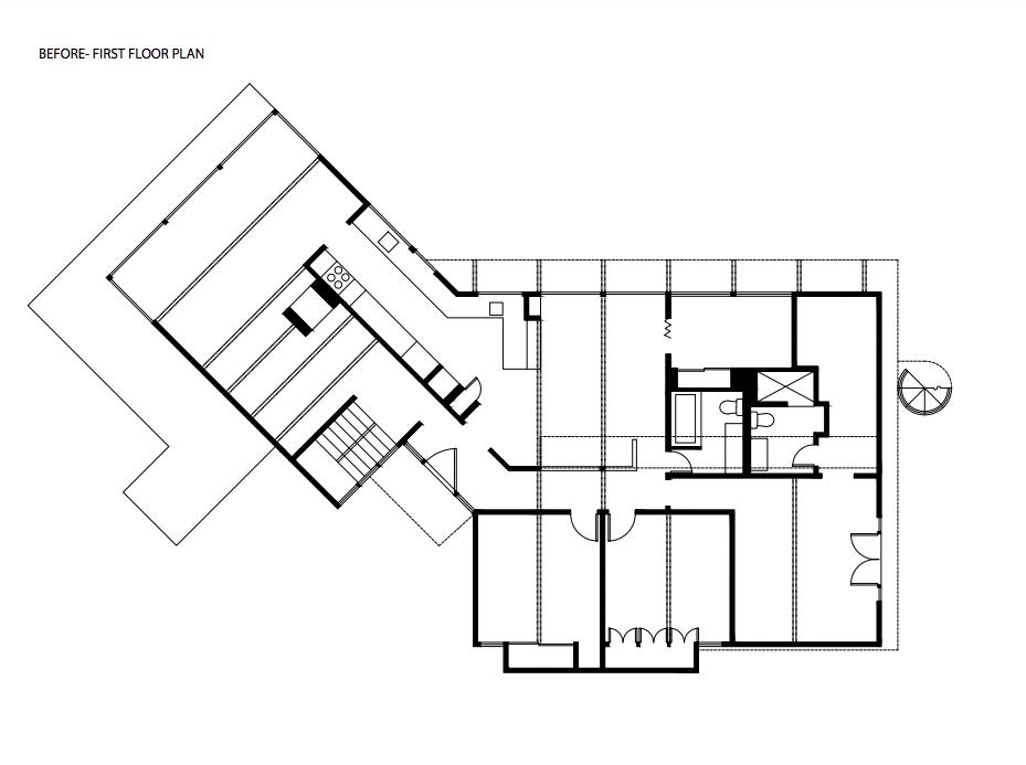 Montlake House Seattle midcentury home floor plans before renovation