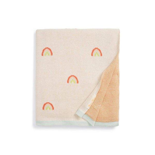 Meri Meri Rainbow Organic Cotton Intarsia Knit Blanket