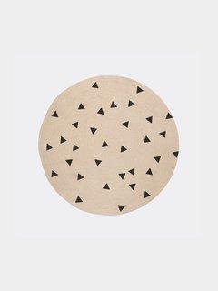 Ferm Living Jute Carpet - Black Triangles