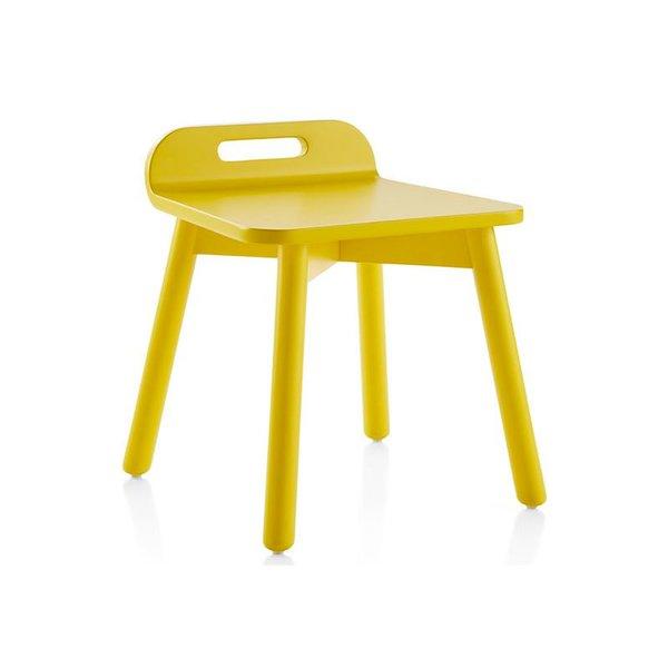 Crate & Barrel Devon Yellow Play Stool
