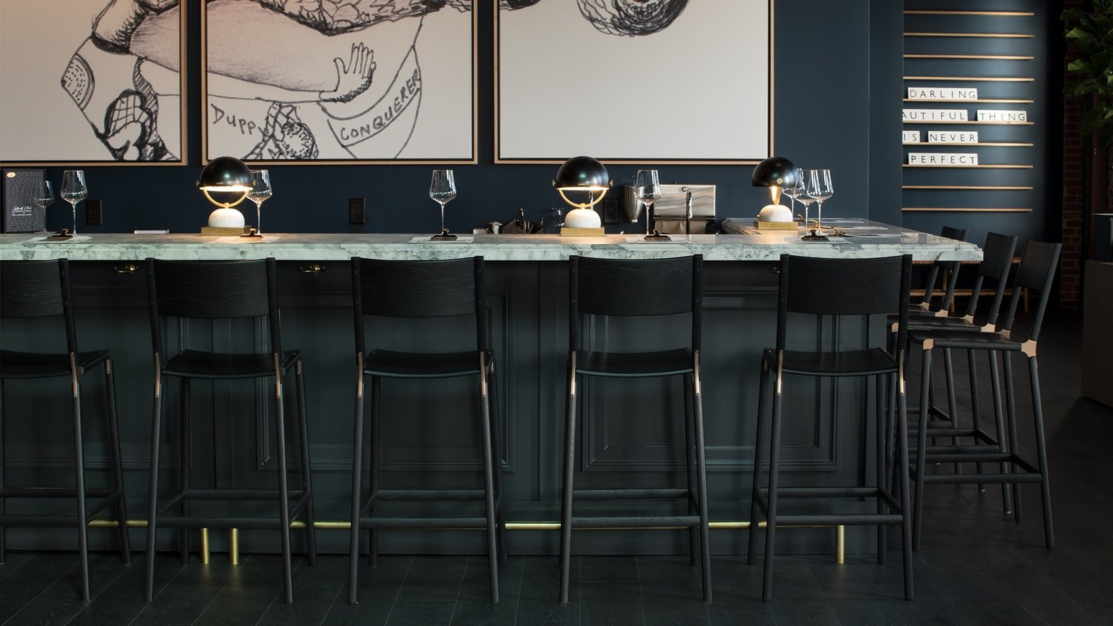 Dining Room, Bar, Stools, and Table Lighting  Photo 6 of 12 in 12 Rising Creators to Know Right Now