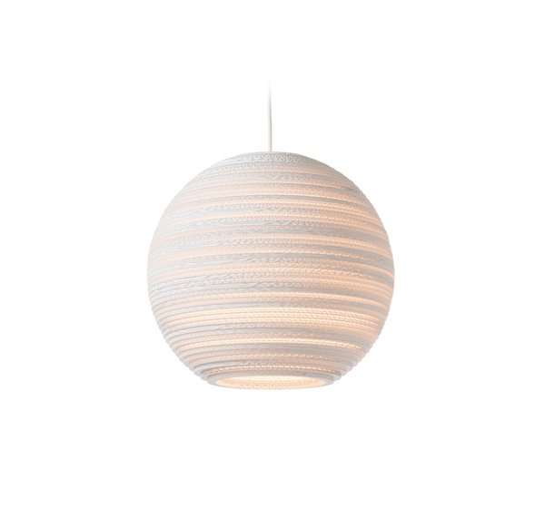 Graypants Moon White Scraplight Pendant