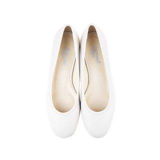 Beyond Skin Cara-B Cream Faux Leather Vegan Flat Shoes