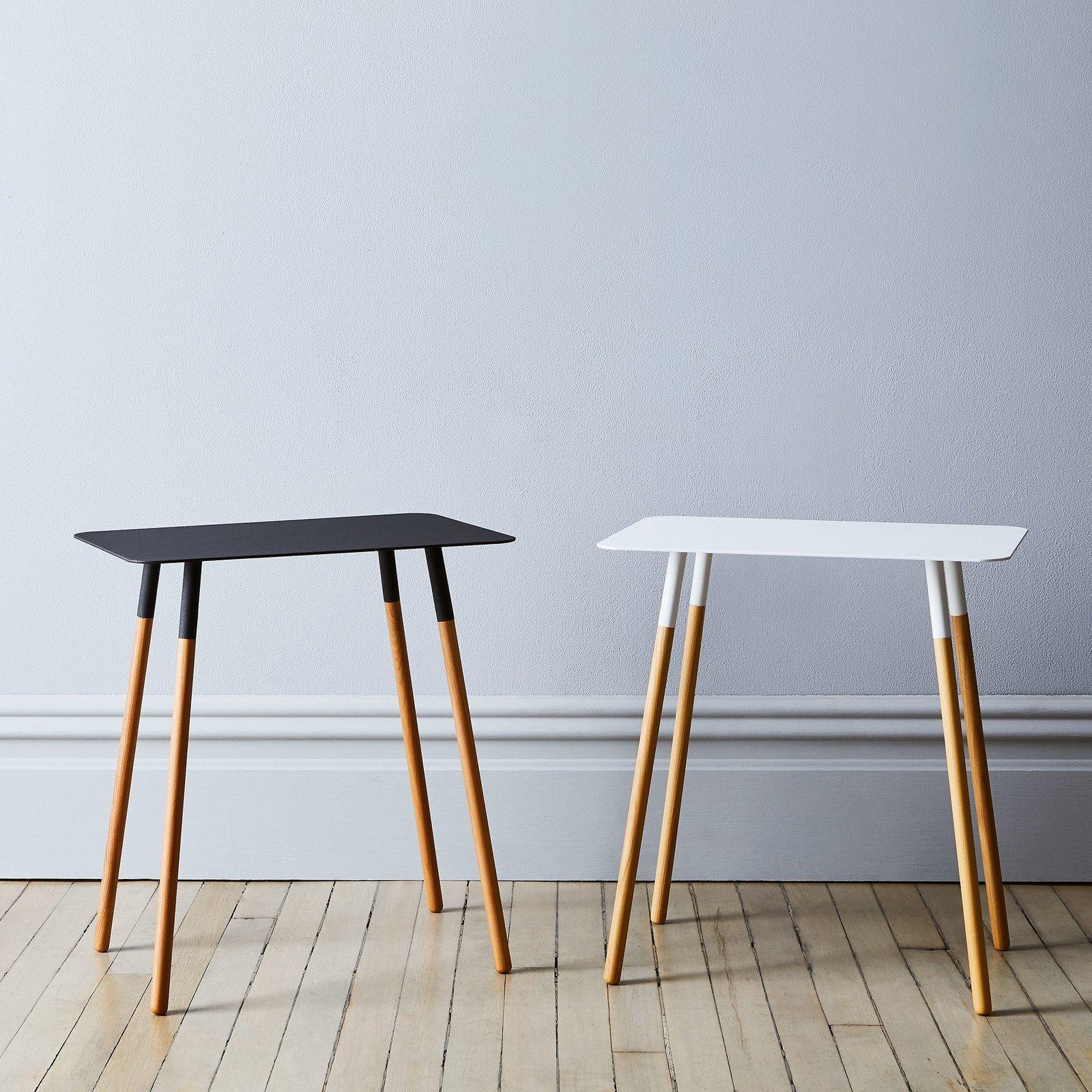 Yamazaki Steel U0026 Wood Rectangular Side Table