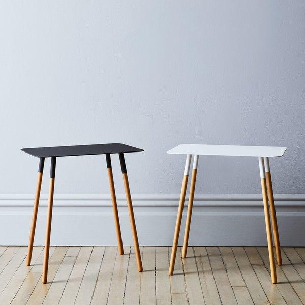 Yamazaki Steel & Wood Rectangular Side Table