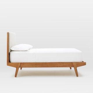 West Elm Modern Bed - Linen Weave