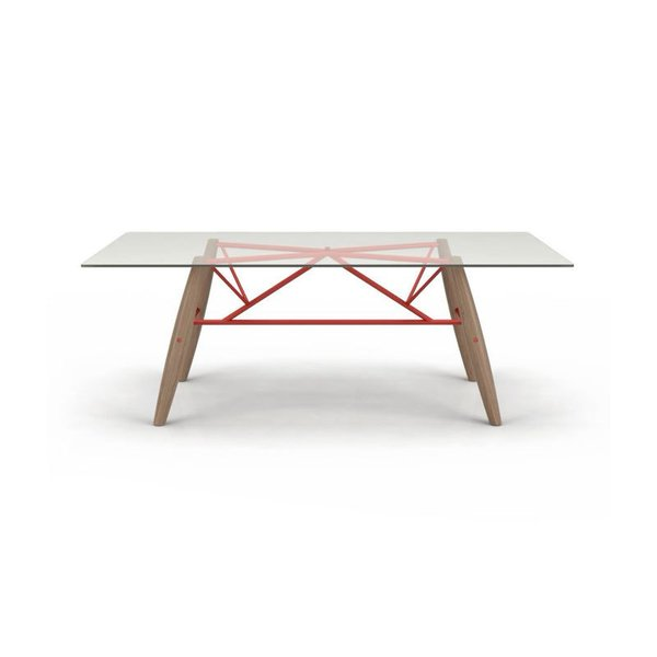 Huppe Connection Glass Top Dining Table