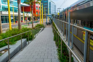 Stepstone pavers are utilized not only on the Esplanade, but on the station's platforms, walkways, and steps, as well.