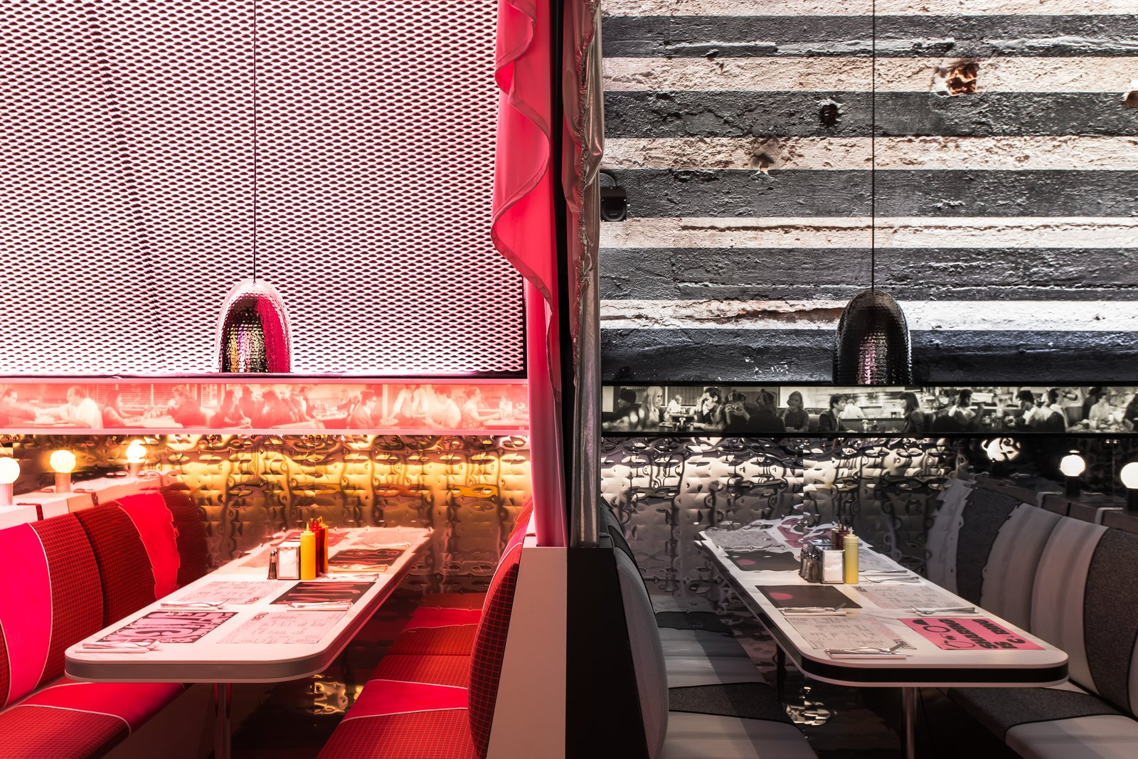 Architect David Rockwell and design studio 2x4 teamed up with Surface Media to realize The Diner, a fully operational greasy spoon in the heart of Milan.