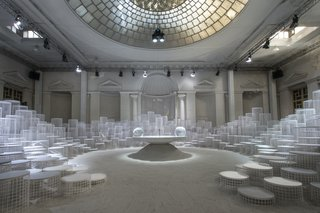 """""""Altered States"""" by Snarkitecture for Caesarstone was showcased inside an abandoned 19th-century building."""