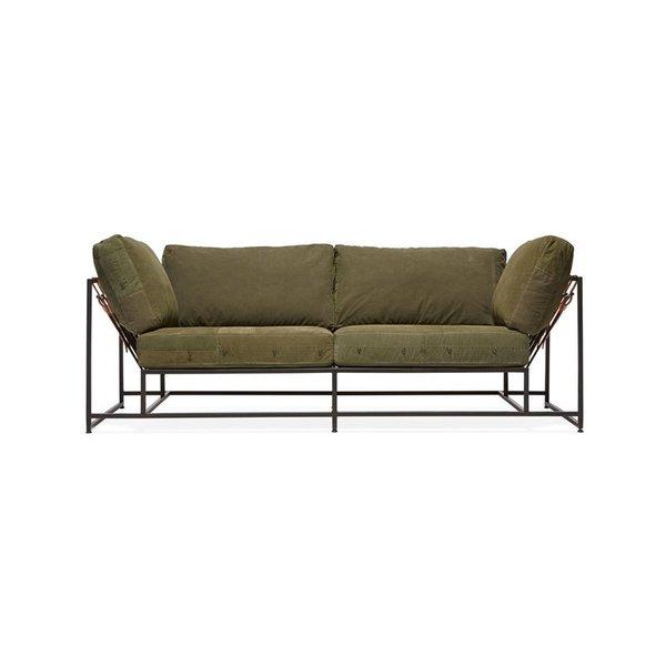 Stephen Kenn Inheritance Two Seat Sofa - Military Canvas