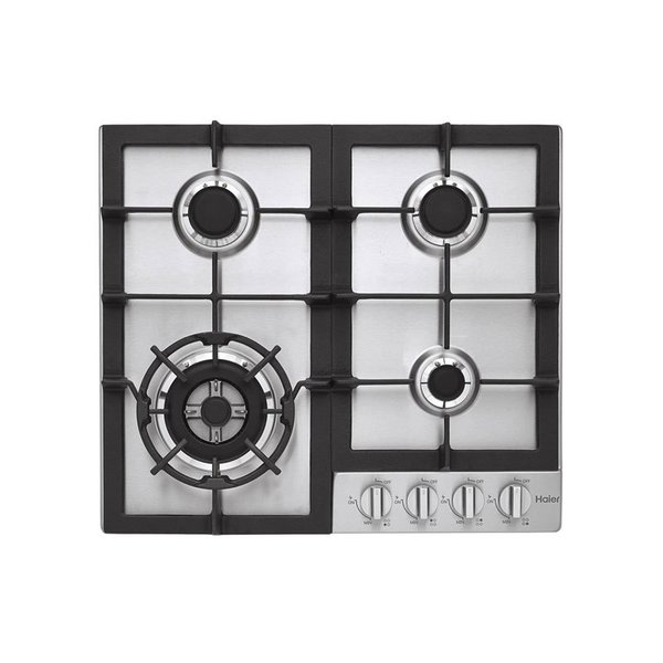"Haier 24"" Gas Cooktop in Stainless Steel with 4 Burners"