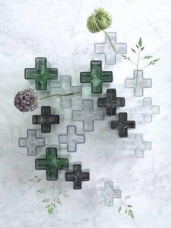 Holmegaard reissued Bodil Kjaer's handblown Crosses vases, originally released in 1961, in new colors.