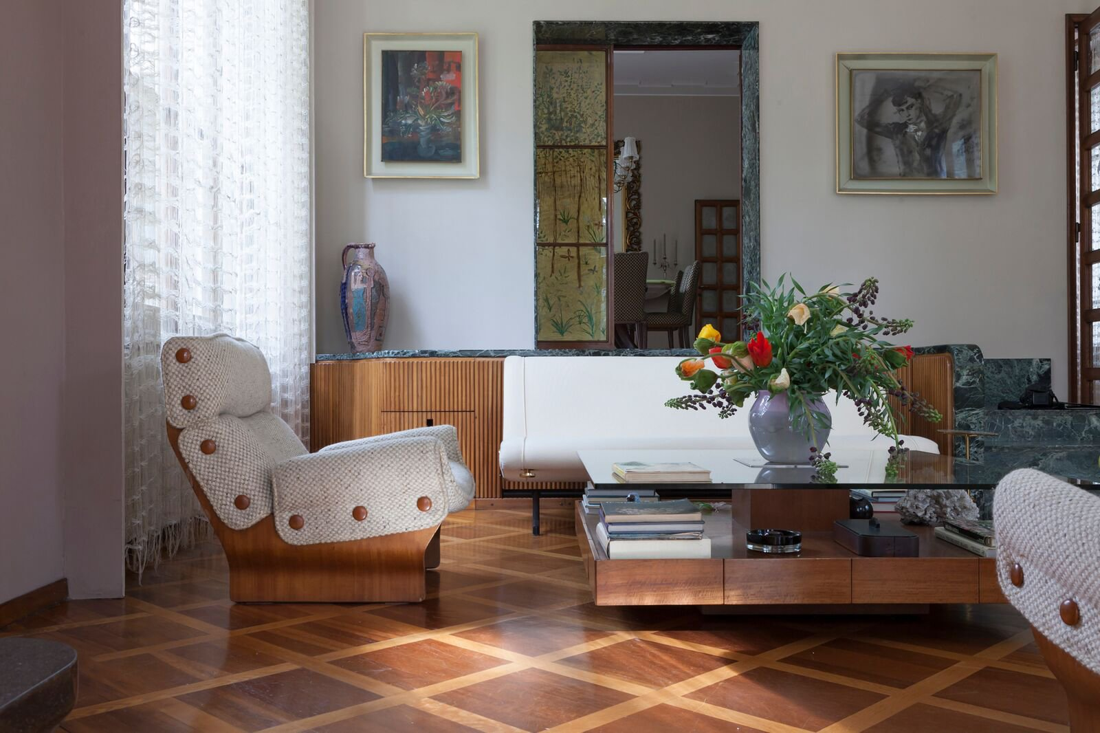Architect and designer Osvaldo Borsani's 1943 home north of the city was opened to the public for the first time.