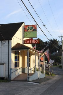 In the small town of Bodega, Casino Bar and Grill is a 135-year-old pool hall whose kitchen hosts local chefs. Recent menus have featured griddled asparagus with local duck egg, estero gold, and truffle oil; a wild gulf shrimp tostada; and boneless pork chops with plum chutney served over mashed sweet potatoes and greens.