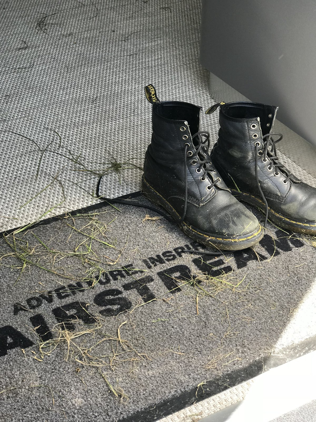 Grass and mud—markers of a successful weekend trip.