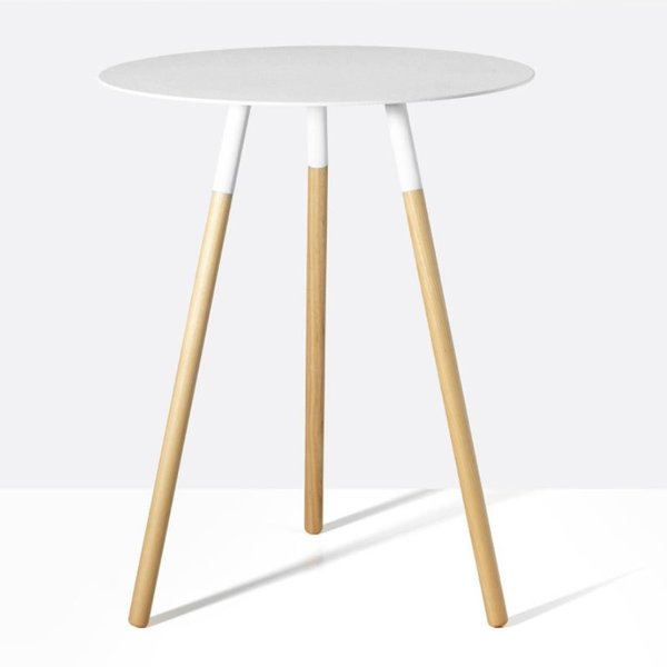 Tri White Side Table