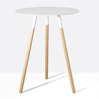 Tri White Side Table